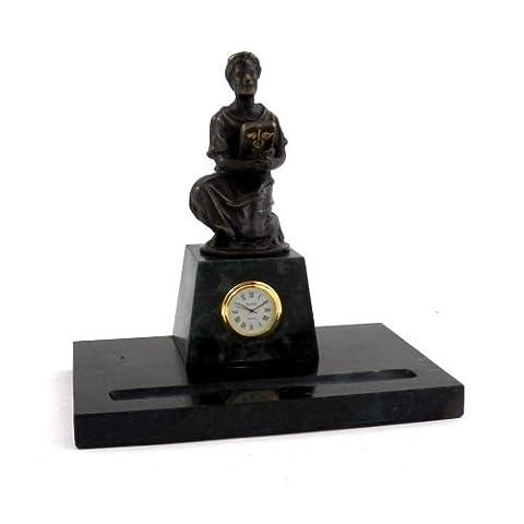 Tarnish Proof Medical Pen Holder with Clock - Tarnish Proof