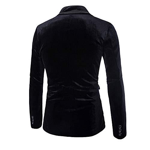 Coste Invernale Casual Singolo Uomo Di Pulsante Trench Outwear A Giacca Jacket Fashion Nero Top Cappotto Velluto Pure Cloom Giacche Camicetta Tuta 4B0qx