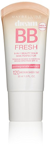 Maybelline New York Dream Fresh BB Cream, Medium, 1 Fluid Ounce (Packaging may vary)