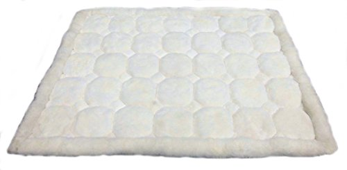 Peruvian Wall Rug - Alpakaandmore Original Peruvian Alpaca Fur Rug Rhombus Designs Natural White (90x60 cm / 35