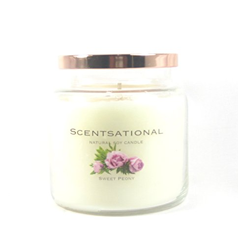 Scentsational Soaps & Candles Natural Soy Candle Sweet Peony