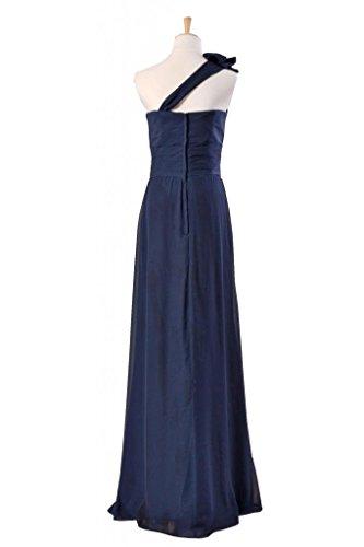 Dress banana Chiffon Long Shoulder Evening Bridesmaid 24 One DaisyFormals BM918 Dress qTRv4c