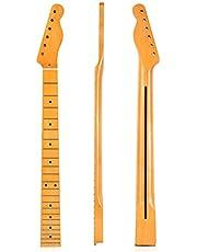 Elektrische Gitaarhals, 22 Fret Maple Neck Fretboard Sector en Binding Inlay Compatibel voor Gibson LP Tele Gitaren Onderdelen Vervanging