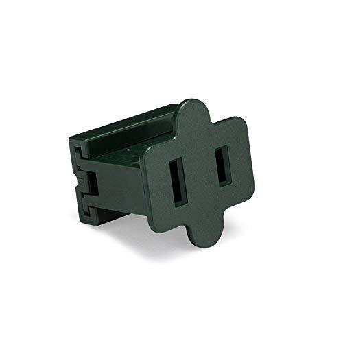 Holiday Lighting Outlet Female Green Slip Plug, Zip Plug, Vampire Plug, Gilbert Plug, Slide Plug (100, SPT-1)