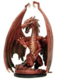 D & D Minis: Large Red Dragon # 55 - Dragoneye by D & D Minis