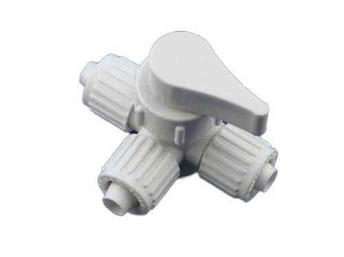 Flair-It 16910 Plastic 3 Way Valve, 0.5