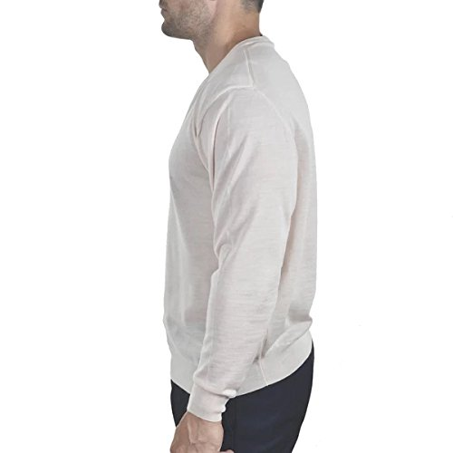 Enzo Mantovani - Men's Merino Wool - Fine Gauge V-Neck Sweater - Made in Italy (Large) by Enzo Mantovani (Image #1)