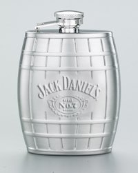Jack Daniel's Embossed 4 oz. Barrel Flask for sale  Delivered anywhere in Canada