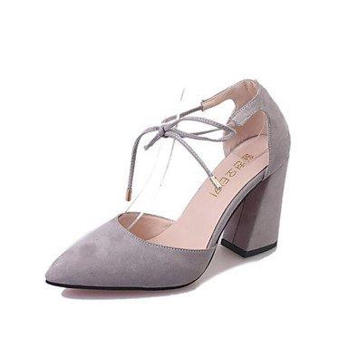 Quadratonero Blushing Donna Estate Casual Tacchi Shoes Club Lvyuan Da Us8 Traforato Libero Uk6 Cn39 Lavoro E ggx Footing Autunno Tempo Eu39 Primavera Pink Ufficio Scamosciato HUp8px