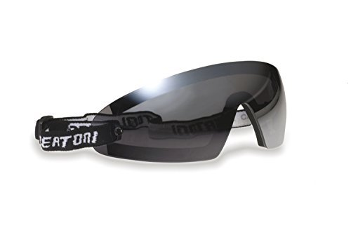Bertoni Sports Glasses with Optical Clip Prescription Lenses Carrier for Motorcycle MTB Ski Skydiving Cycling Softair Extreme Sports - Windproof AF79 Italy - Smoke Lens