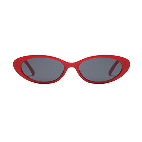 Aiweijia vendimia hombres Gris de marcos pequeñas de ovales los los la de gafas de Gafas de hombres los sol mujeres Rojo de las zwxqYzBr