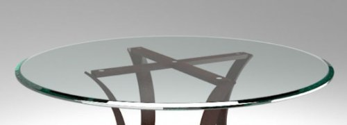 24'' Inch Round Glass Table Top 1/2'' Thick Tempered Beveled Edge by Fab Glass and Mirror by Fab Glass and Mirror (Image #4)
