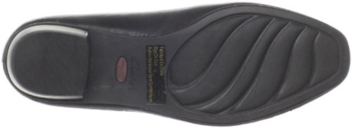 Clarks Womens Caswell Eternity Pump,Black Patent,6 M US