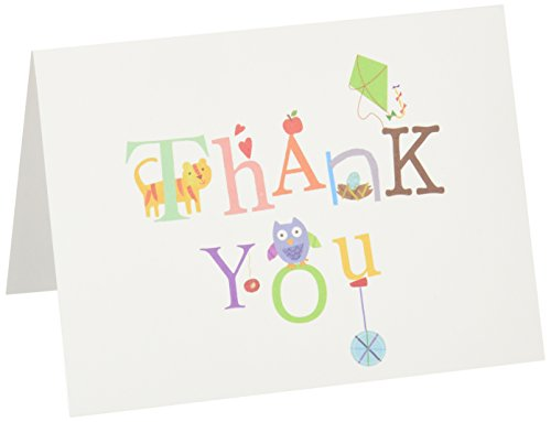 C.R. Gibson Thank You Notes, Set of 10 Boxed Cards with Envelopes -Alphabet