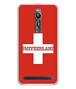 ColorKing Football Switzerland 03 Red shell case cover for Asus Zenfone 2