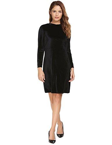Velvet Long Sleeve Dress - 9