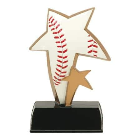 ⚾ Baseball Color Star Resin Trophy ⚾ MVP Award | 6 Inch Tall - Customize Now - Decade Awards