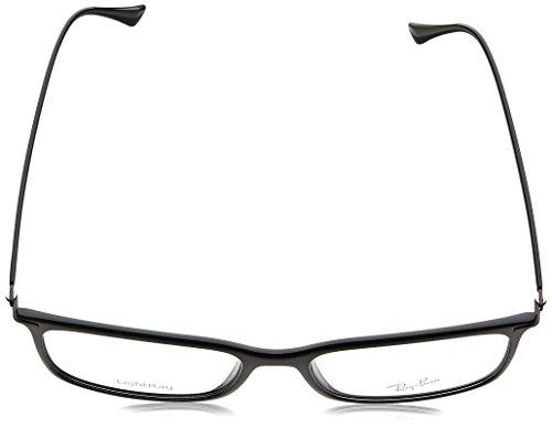 Ray Ban RX7031 Light Ray Eyeglasses-2000 Shiny Black-55mm