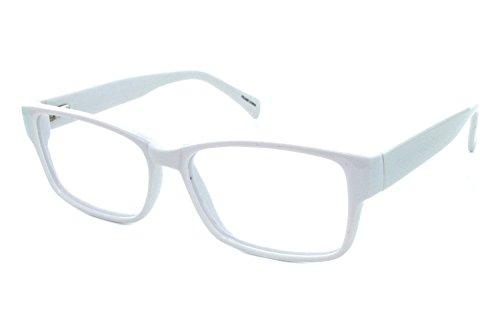 Lunettos Taylor Mens Eyeglass Frames - - White Eyeglasses