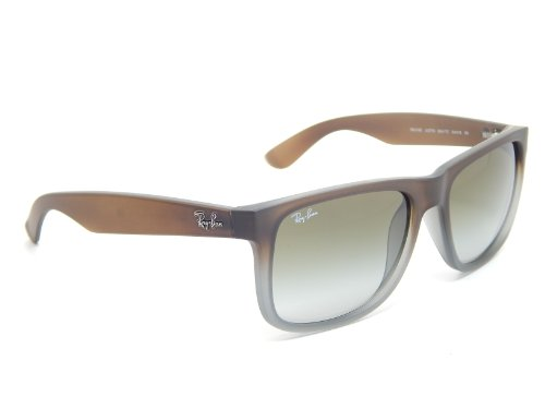 da2c070880 Amazon.com  Rayban Sunglasses Justin RB4165 854 7Z RUBBER BROWN ON GREY  GREEN GRADIENT  Shoes