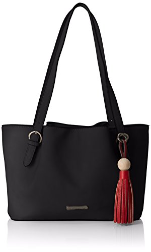 Tamaris Natalie Shoulder Bag - Shoppers y bolsos de hombro Mujer Negro (Black)