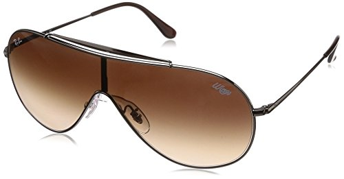 Ray-Ban RB3597 Wings Shield Sunglasses, Gunmetal/Brown Gradient, 33 mm ()