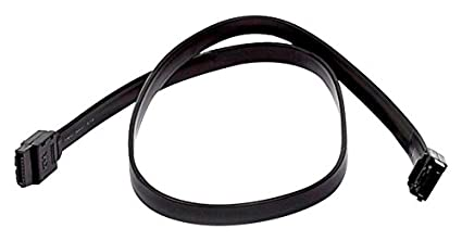 eDragon 24 inch SATA 6Gbps Cable w//Locking Latch 90 Degree to 180 Degree Black 2 Pack ED716196
