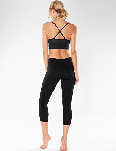 7d8eba4a80 CRZ YOGA Women s Cross Back Glossy Mesh Camisole Longline Yoga Sports Bra  Top  Amazon.ca  Clothing   Accessories