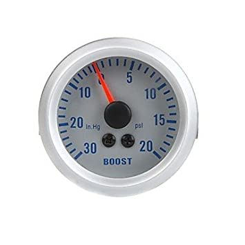 Turbo Boost Vacuum Gauge Meter para el coche auto 2 52mm 0 ~ 0 ~ 20PSI 30in.Hg Naranja Light , Silver: Amazon.es: Electrónica