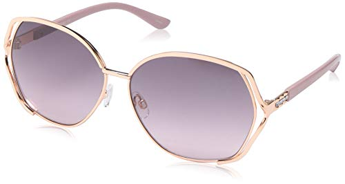 Rocawear Women's R3287 Rgdrs Non-Polarized Iridium Round Sunglasses, Gold Rose, 60 mm