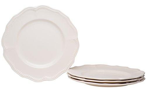 Classic White Plate Dinner (Red Vanilla FN900-401 Classic Dinner Plates (Set of 4), 11