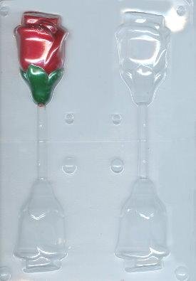 Large 3-D Rose Pop Candy Mold ()