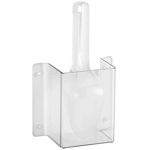 (Cal-Mil 623 Wall-Mount Scoop Guard w/ 6-oz Scoop - Polycarbonate, Clear)