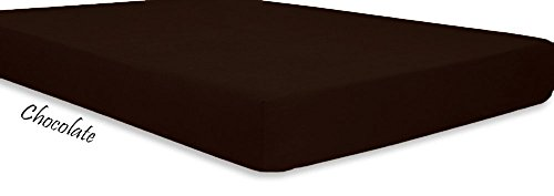 LaxLinen Super Soft Quality 100/% Egyptian Cotton 1Pc Fitted Sheet 18 inch Inch Extra Deep Pocket Three Quarter//Small Bed Black Stripe 600-Thread Count