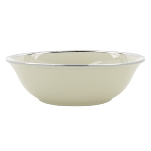Ivory Bowl Fruit (Lenox Tuxedo Platinum Ivory China Fruit Bowl)