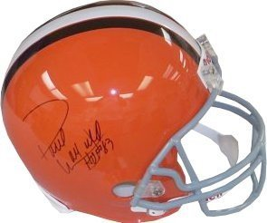 Paul Warfield Signed Autograph Cleveland Browns Full Size Replica Helmet HOF 83 - Autographed NFL Helmets