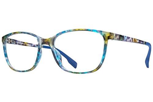 Revolution Mens Eyeglasses - Revolution Portland Eyeglass Frames - Blue Tortoise/Brown Mirror Clip-On