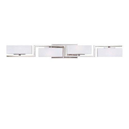 [Designers Fountain 6714-SP Meridian 4 Light Bath Bar] (Platinum 4 Light Vanity Lamp)