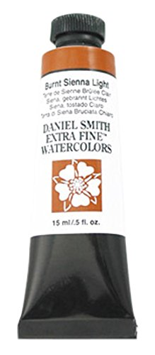 Daniel Smith 284600230DANIEL SMITH Extra Fine Watercolor 15ml Paint Tube, Burnt Sienna Light