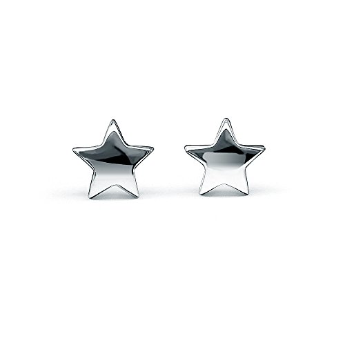 HANFLY Star Earrings Sterling Silver Star Stud Earrings Tiny Star Earrings (Sterling Silver Star Shape)
