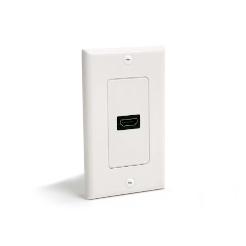 Single Outlet Plate Wall (Single Outlet Female HDMI  Wall Plate White)