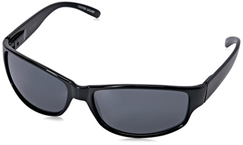 Foster Grant Men's Theory Polarized Rectangular Sunglasses, Black, 145 mm