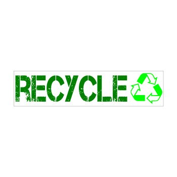 Recycle Conservation Window Bumper Sticker