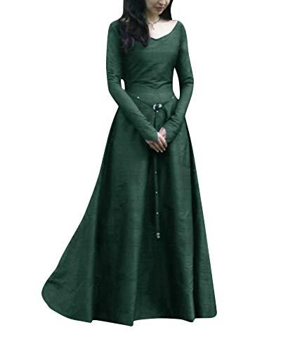 Costume Abiti PengGengA Medievale Abito Dress Maxi Fancy Cosplay Verde Donne Sqq8wxPrI