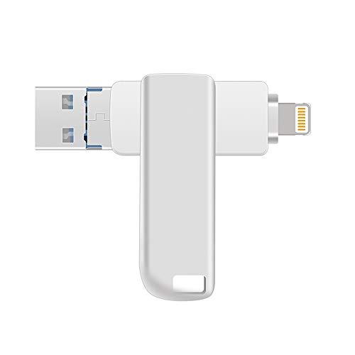 [해외]아이폰아이 패드태블릿안 드 로이드Saumsung암호터치 ID 보호 기능을 갖춘 PC 용 3에 1 64GB USB 3.0 플래시 드라이브 (64GB) / 3- in -1 64GB USB 3.0 Flash Drive for iPhoneIpadTabletAndroidSaumsungPC with PasswordTouch ID Protection (64GB)