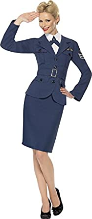 1940s Costumes- Wonder Woman, WW2, Dorothy, Nurse, Pinup Smiffys WW2 Blue Suit $47.12 AT vintagedancer.com
