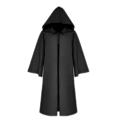 BlingblingDress Men's Tunic Hooded Robe Cloak Knight Gothic Fancy Cool Outift Cosplay Costume