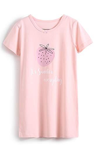 (HOYMN Girl's Nightgowns Princess Cotton Cute Fruit Sleepwear Nightdress Sleep Shirts for 3-12 Years)