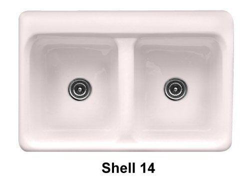 UPC 763270502147, Advantage Wickford Double Bowl Self Rimming Kitchen Sink Finish: Shell, Faucet Drillings: 2 Holes