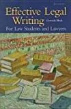 img - for Effective legal writing: For law students and lawyers by Gertrude Block (1986-05-03) book / textbook / text book